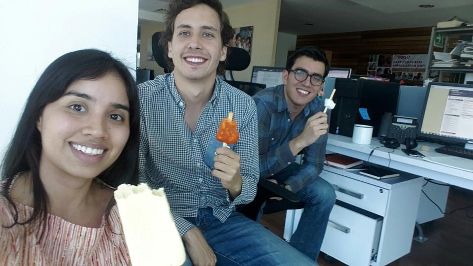 Chilling out: our León office enjoyed a popsicle party to welcome the beginning of Spring