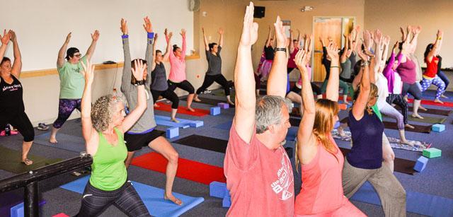 Yoga at 2017 Employee Appreciation Day