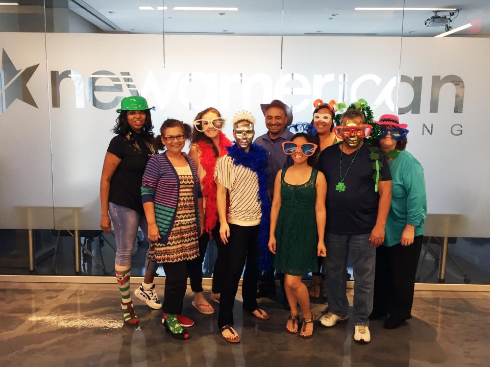 Employees from New American Funding-Vegas participating in Wacky Wednesday