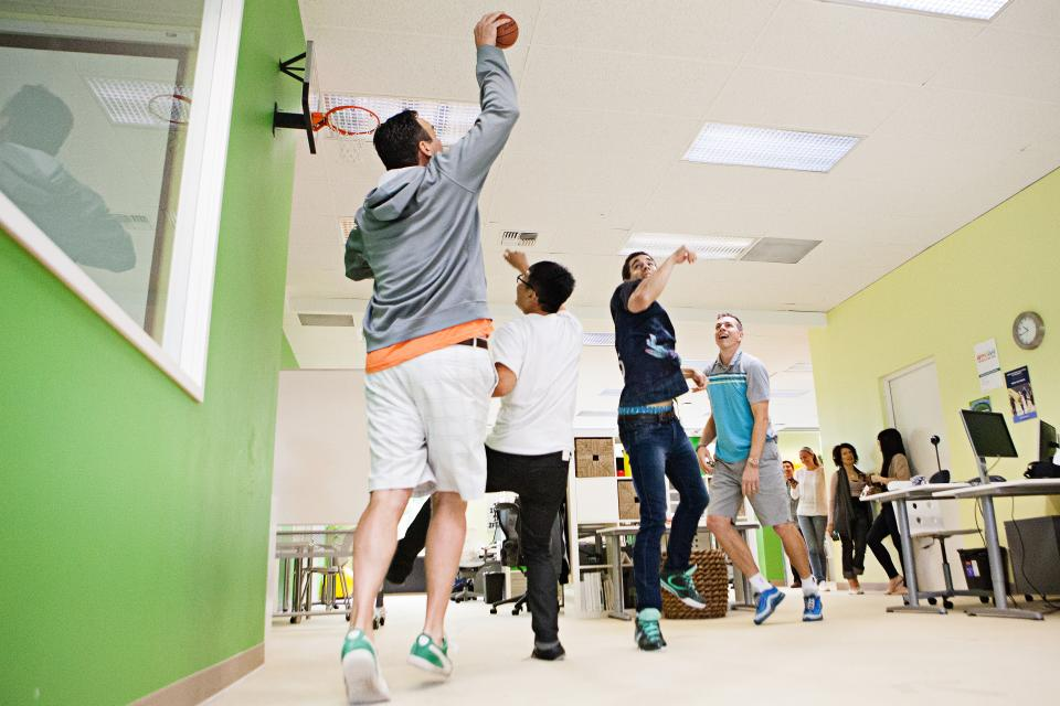 From basketball, to ping pong, to treadmill desks, Limeade offers plenty of options for fun in-office activities.