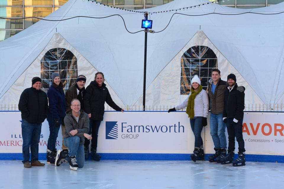 Making the most of winter by hitting the ice rink!