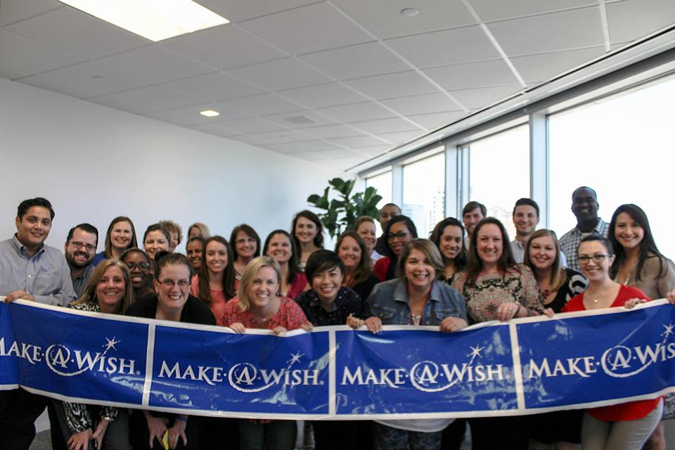 Houston team members raise funds for Make-A-Wish