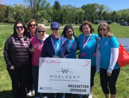 Woolpert partakes in and sponsors various wellness events in local communities, including this Walk for Women's health.