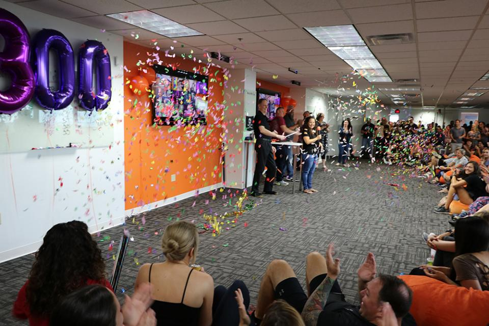 When we hit 300 employees it was, of course, another reason for a celebration!