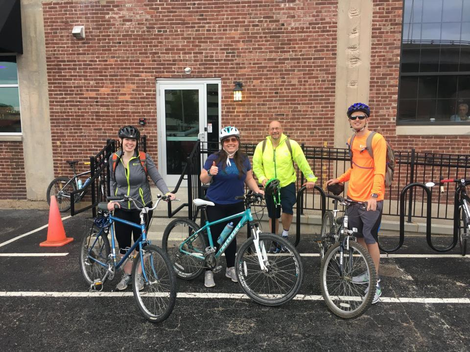 Celebrating Bike to Work Day with our 'Pedal Pushers.'