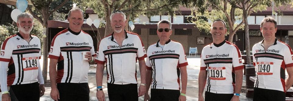 The Mission Bell team rides for ALS.