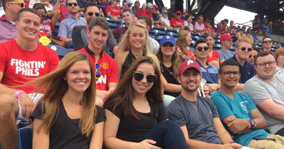 Baker Tilly interns enjoy an afternoon at a baseball game.
