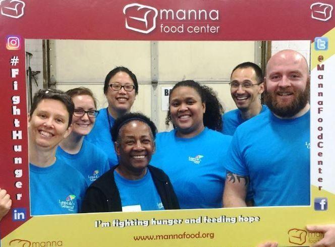 Volunteering at Manna Food Center