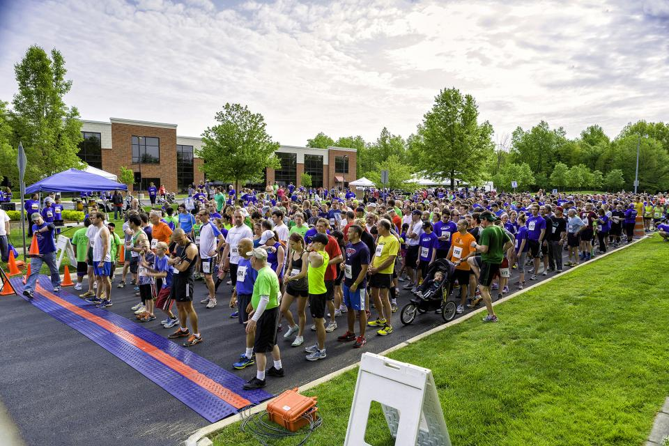 Runners take their marks at our annual Hy-5 5K race