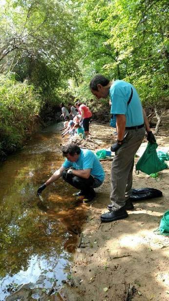 As part of the community, Woolpert does its part to participate in cleanup activities.