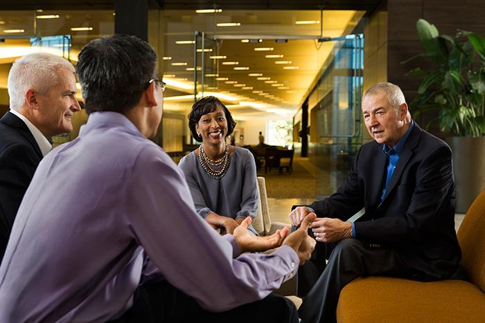 SAS CEO Jim Goodnight values the input he gets from informal conversations with employees.