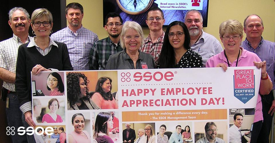 In honor of Employee Appreciation Day, SSOE management provided a celebratory lunch for employees across the U.S. and around the world. Their daily commitment to the success of our clients is critical to the success of SSOE—and they're always rising to the occasion.