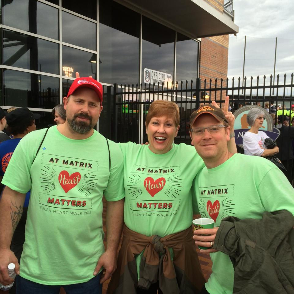 Supporting the American Heart Walk in downtown Tulsa