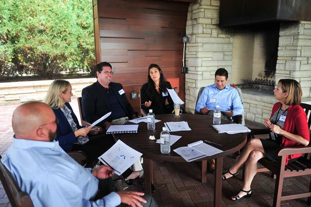 Leaders from AbbVie's Employee Resource Groups at an offsite meeting