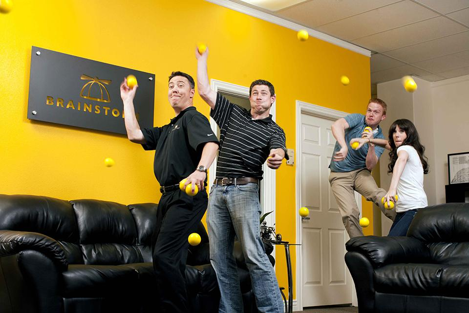 Dodge ball is another favorite of ours in the office.