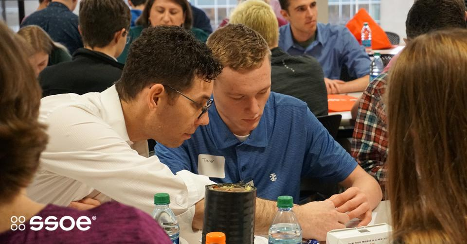 SSOE hosts dozens of high school students each year during Engineers Week to engage high school and pre-college students in exploring STEM careers.