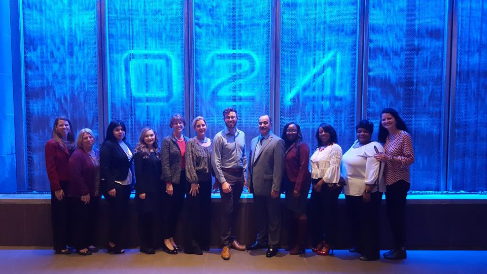The 2017 Bright Ideas Finalists pose together before presenting their ideas to our Executive leadership.