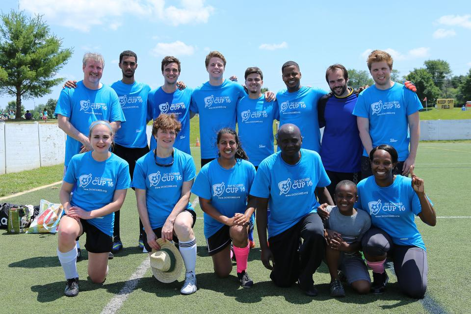 Arnold & Porter employees and friends participate in DC Scores Cup to help raise money for an organization that provides athletic, artistic, service and other development opportunities to thousands of low-income youth who would not otherwise have such opportunities.