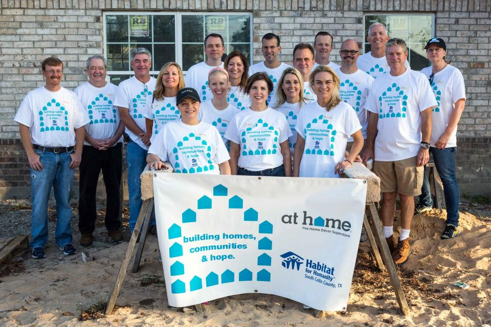 Executive Team Volunteering at Habitat for Humanity Build