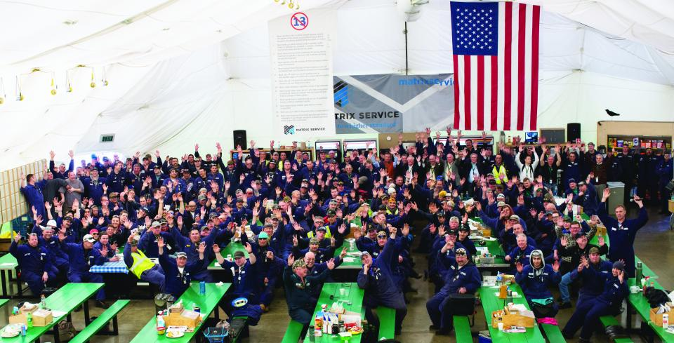 Employees in Washington celebrating the Board of Director's Safety Award