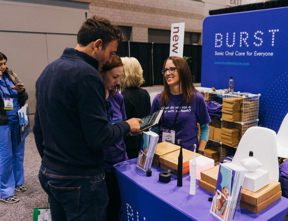BURST employees showing others what BURST is all about!