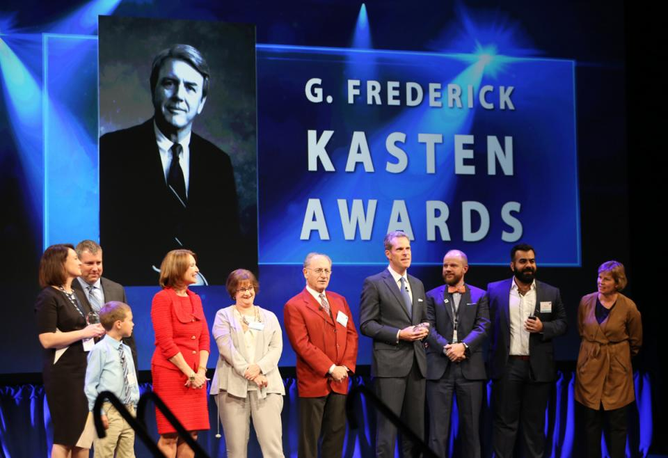 The Kasten and Rupple Awards are Baird's most highly regarded recognitions for client service and community involvement. Winners are announced at the annual meeting and are surprised onstage by their families.