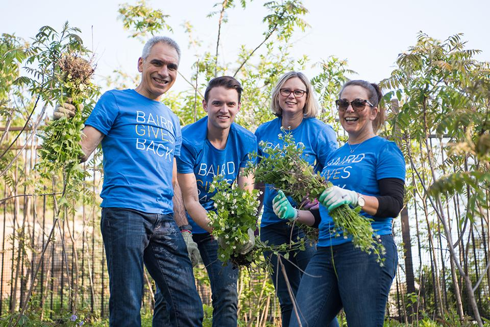 During Baird Gives Back Week, associates volunteered more than 7,000 hours in the United States, Europe and Asia.