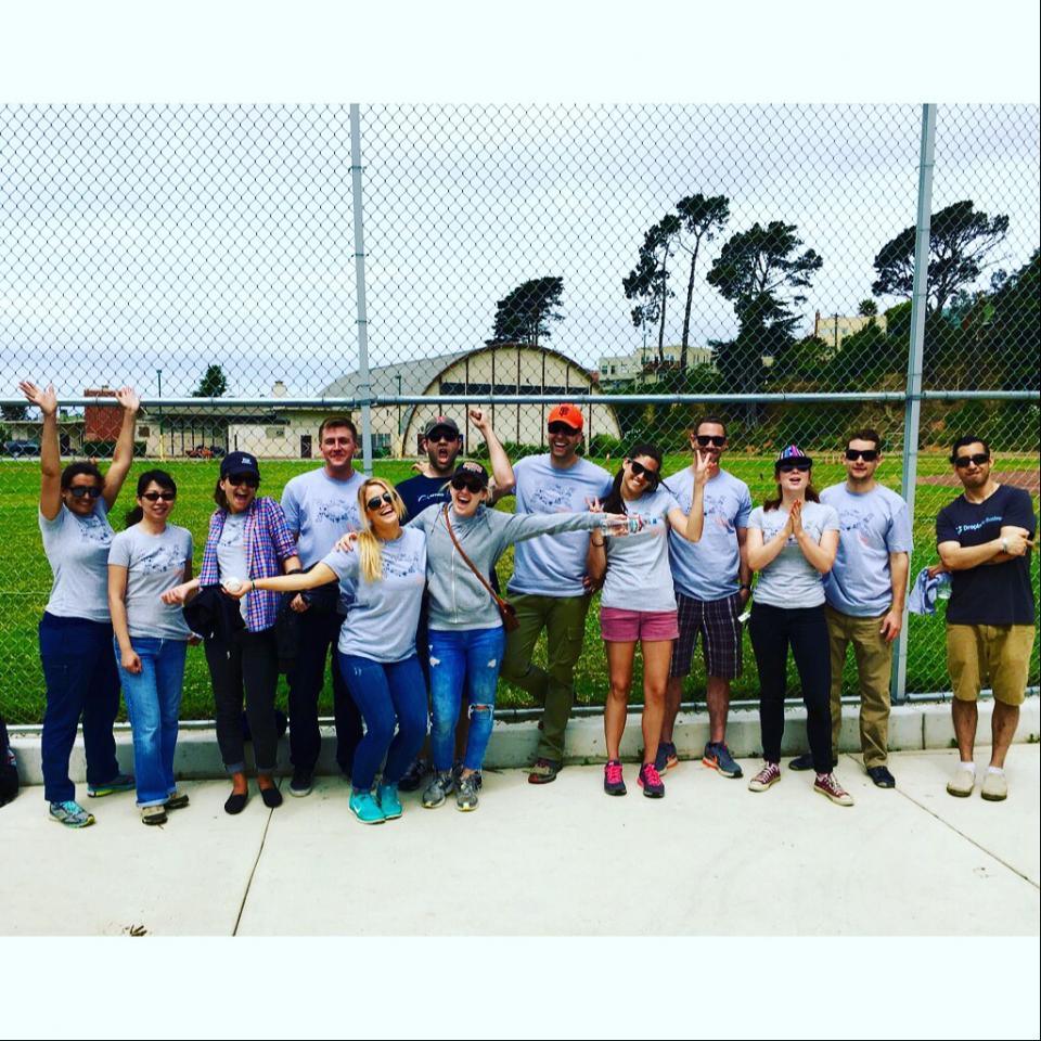 Employees volunteering at Appirio's Day of Service