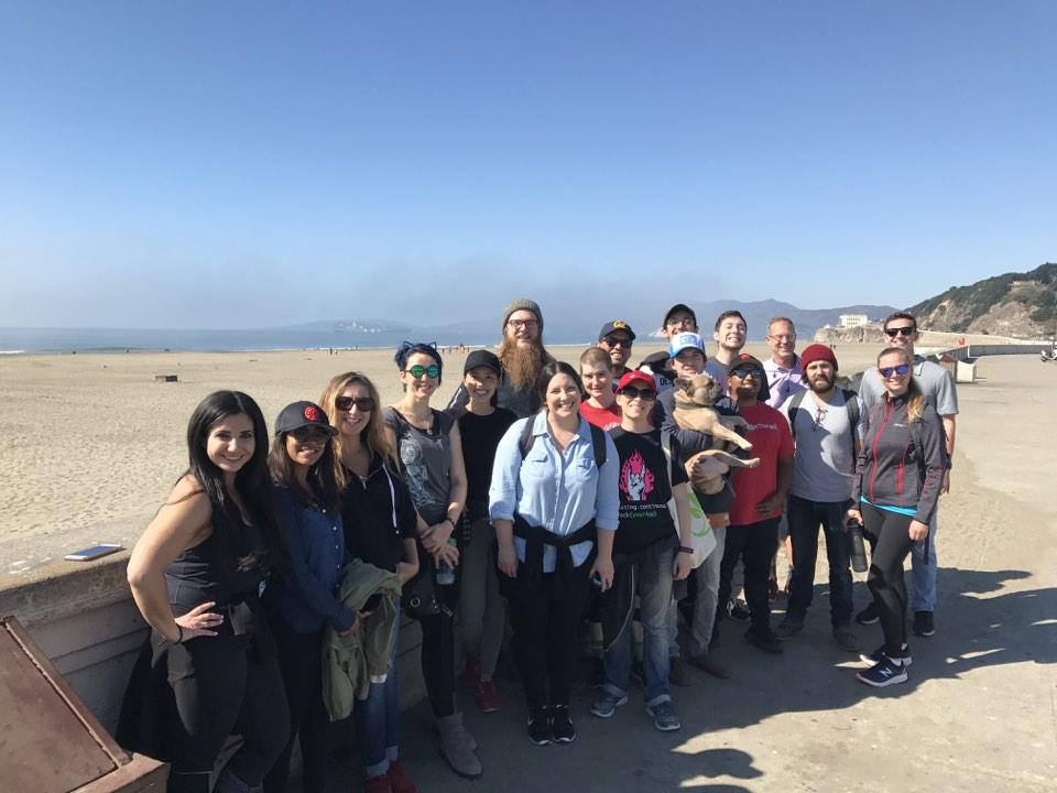 Sauce Labs SF Beach Cleanup Team