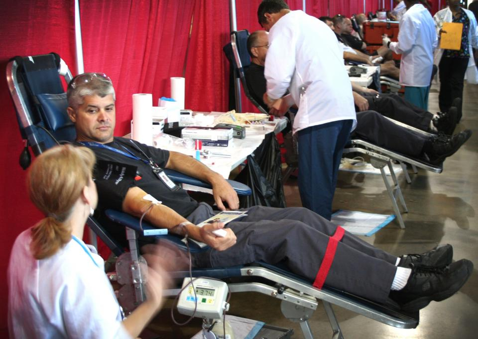 If you receive blood in the Southeastern U.S., more than likely it came from a Delta employee. TechOps people donate for the American Red Cross blood drive.
