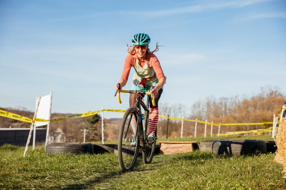 Costumes are required at our annual employee cyclocross race.