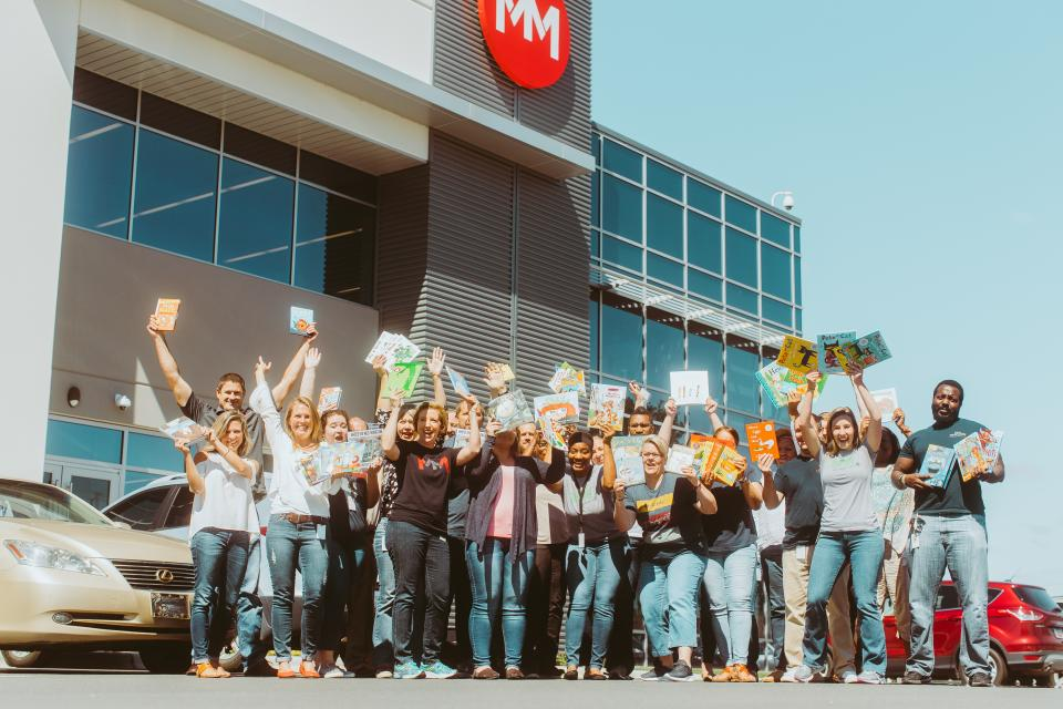 Movement Mortgage employees rallied together to put together a book drive that benefited the Movement School in Charlotte, N.C.
