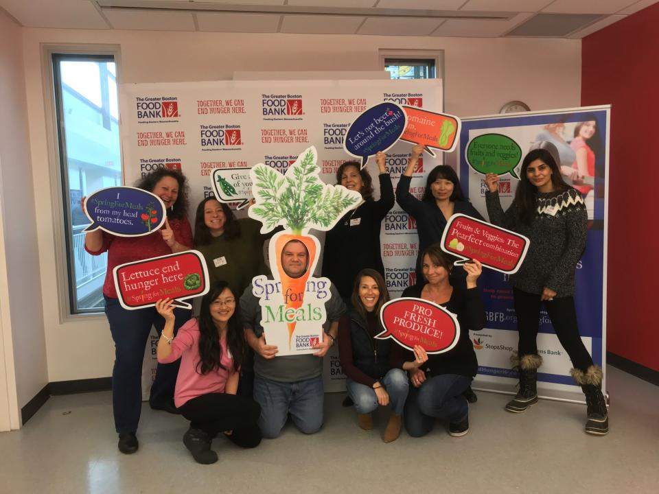 The Boston office held a volunteer event at the Greater Boston Food Bank!