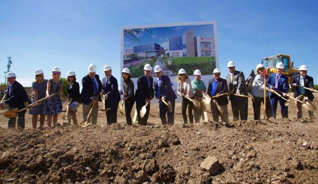 Team members celebrate the groundbreaking of our new medical center Austin - coming in 2019!