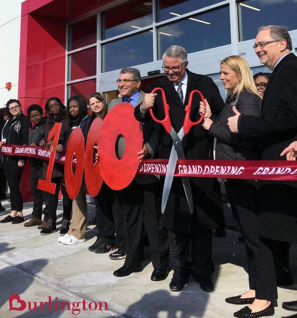 Store associates and executive leadership grand open our corporate hometown store in Burlington, NJ! This was one of Burlington's 28 new store openings in Spring 2018.