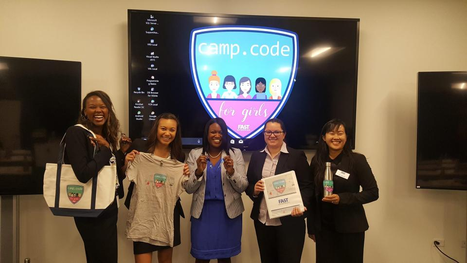 First Camp Code for Girls hosted by FAST.