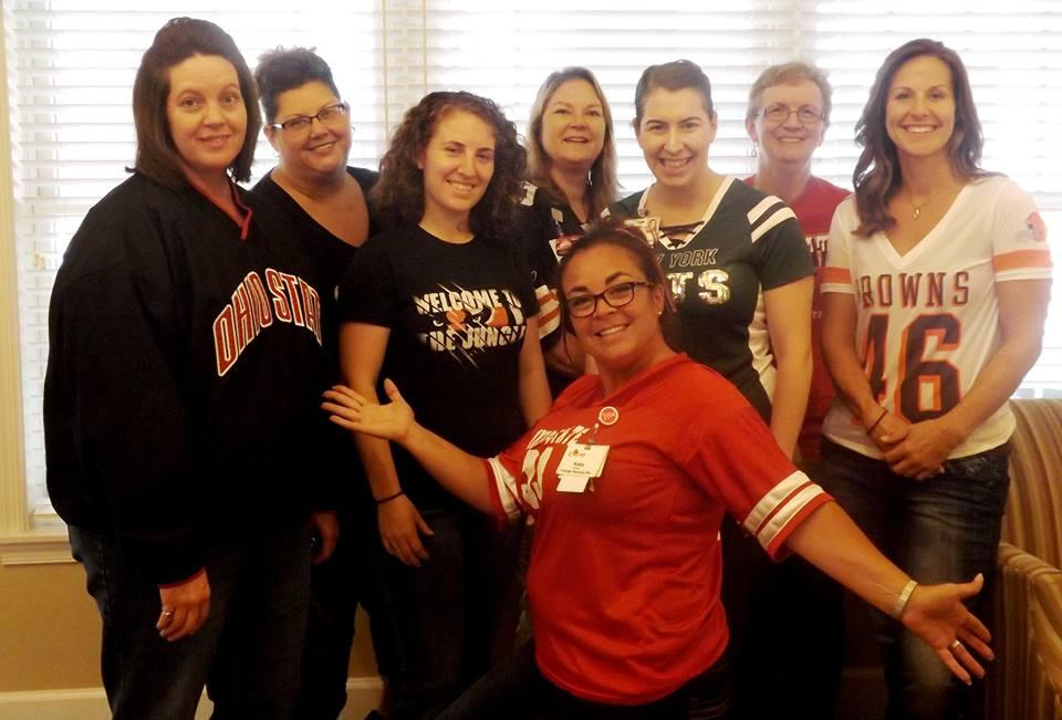 Ohio Living Cape May staff showing their team spirit