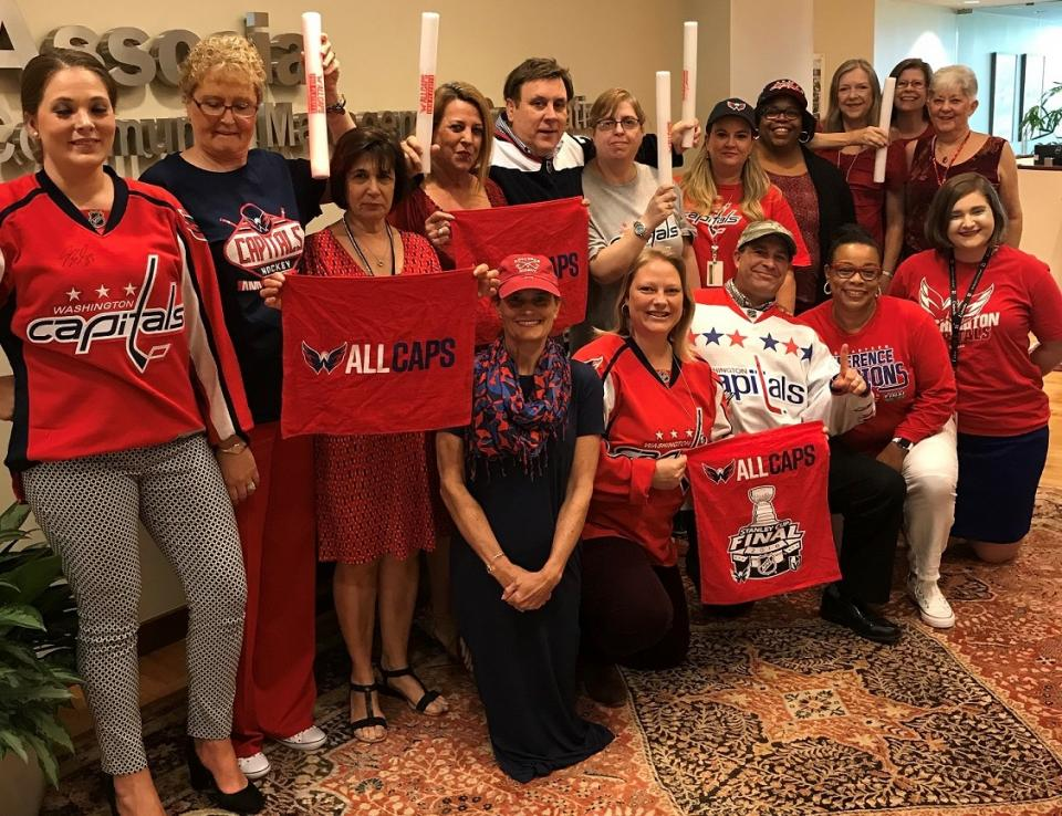 The CMC Virginia team got deck out in Washington Capitals gear to celebrate their Stanley Cup victory!