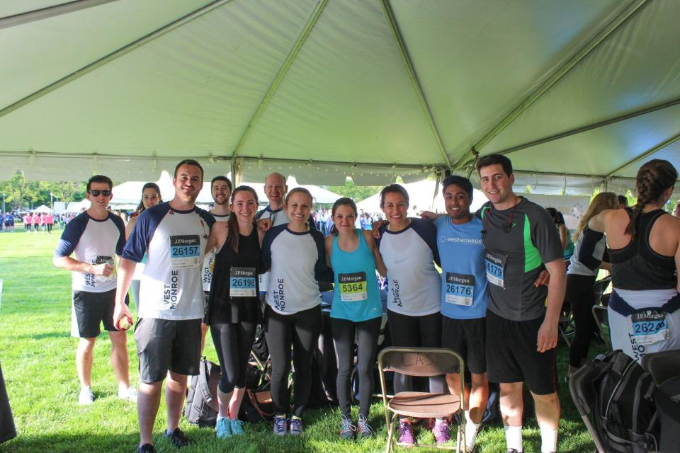 Post run at Chase Corporate Challenge in Chicago