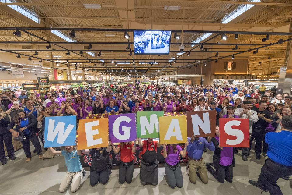 Cheering on the newest addition to the Wegmans family
