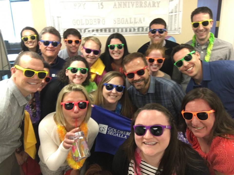 To kick off our Spirit Week everyone was given GS Sunglasses! Here are members of our Chicago office showing theirs!