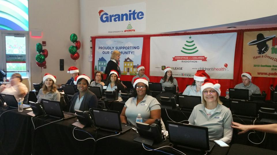 During the holidays, a group of Graniteers can be found working the phone bank at the Radiothon for Children's Medical. We always have so much fun at this event!