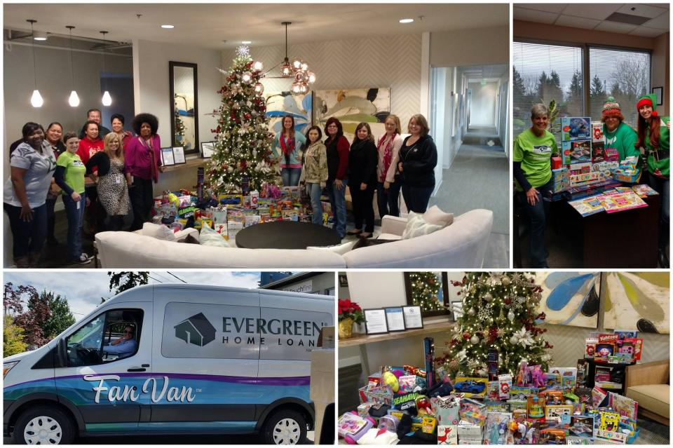 Santa and his little elves have been hard at work collecting donations from our local area branches to support foster children through Treehouse. At Evergreen, we believe in changing the world one relationship at a time.