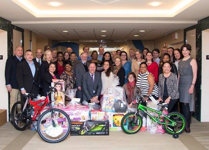 ABA Employees collect over 200 gifts for Salvation Army Angel Tree holiday outreach event.