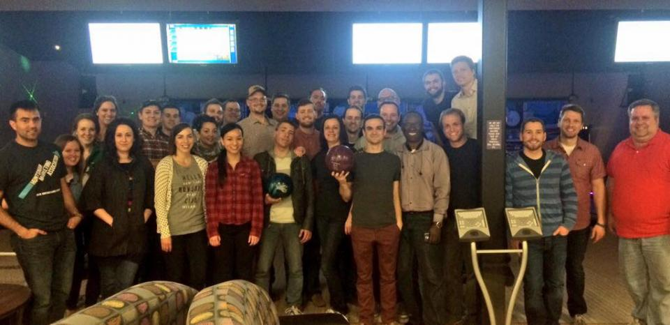 97th Floor has a company bowling activity
