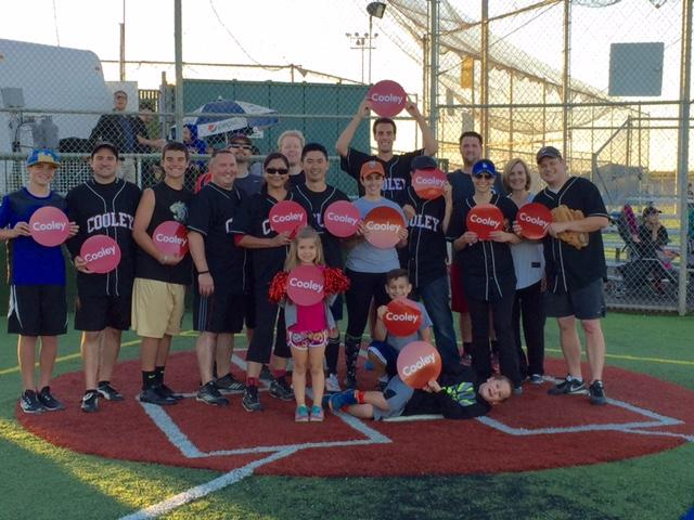 A Cooley softball team from the Palo Alto office celebrated their second PALSL (Palo Alto Lawyers Softball League) championship in the past six years.