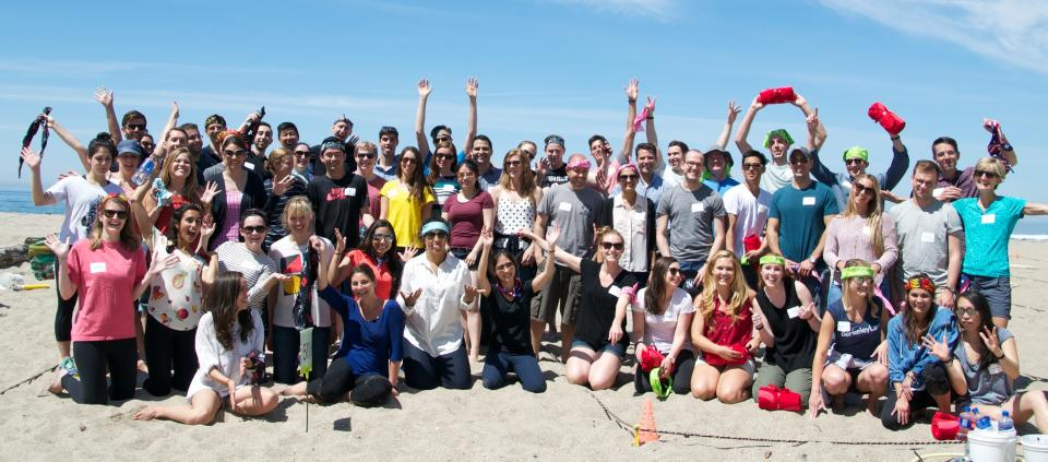 Cooley's summer associates gather at Seascape in Aptos, California.