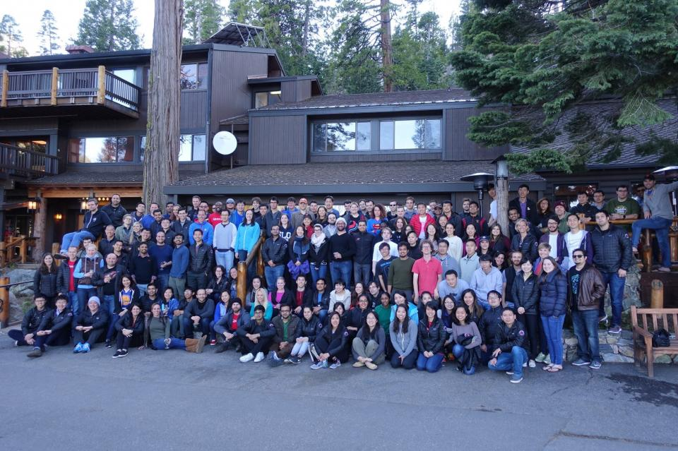 The entire company at our annual retreat in Lake Tahoe in 2017