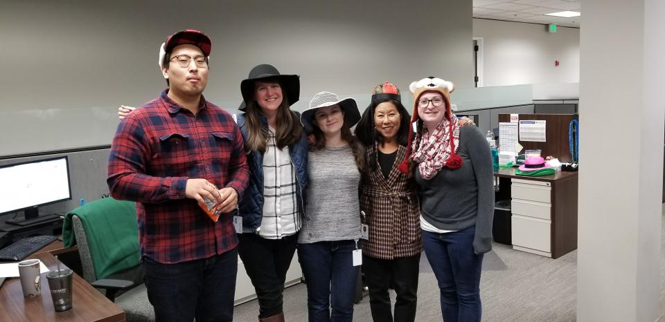 Crazy Hat Day at the Home Office!