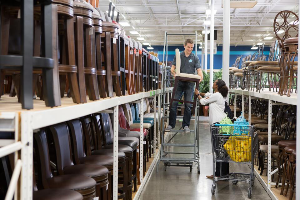 Team Member Assisting Customer In-Store